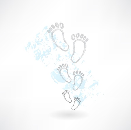 footprints grunge icon Vector