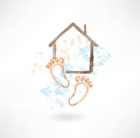housewarming: housewarming grunge icon Illustration