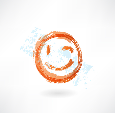 emote: wink grunge icon