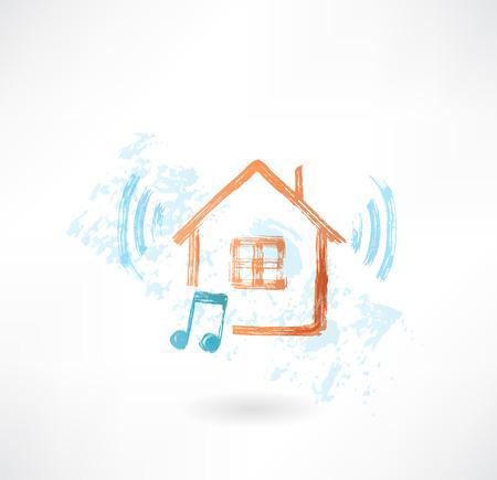 Music home grunge icon