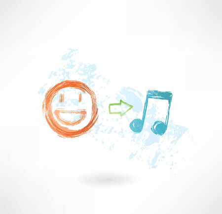 equals: Musik gleich gute Laune Grunge-Ikone Illustration
