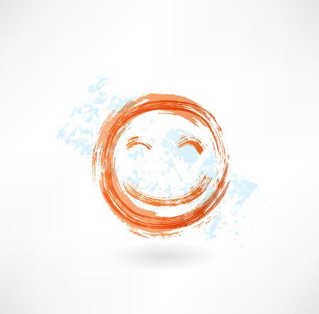 emote: Cute grunge icon Illustration