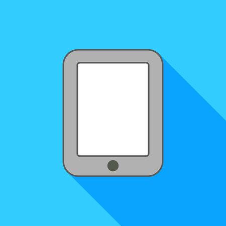 pad: pad on blue background Illustration
