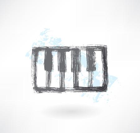 virtuoso: piano keys grunge icon