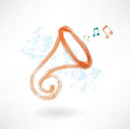 trumpet grunge icon Vector