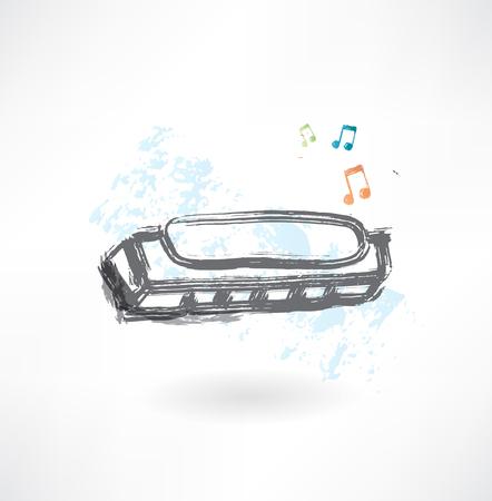 country life: harmonica grunge icon