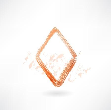 diamonds card grunge icon Stock Vector - 25819562