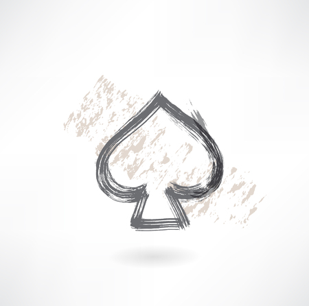 spades cards grunge icon Stock Vector - 25819574