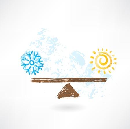 warm kalt Gleichgewicht Vektorgrafik