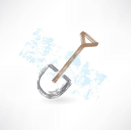 hem: shovel grunge icon Illustration