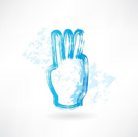 three fingers grunge icon