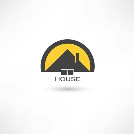 black simple house Vector