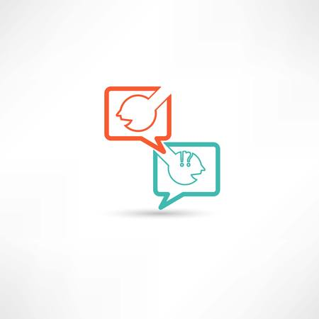 dialogue of two persons Vector