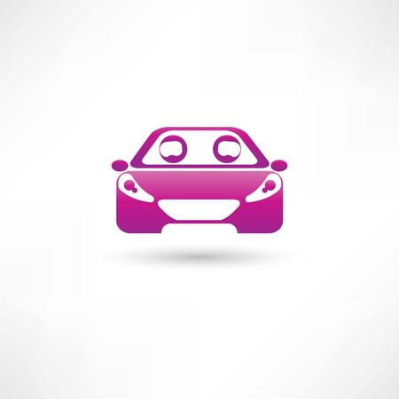 colored front car Vector