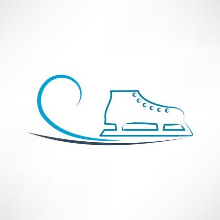 ice skates: One skate