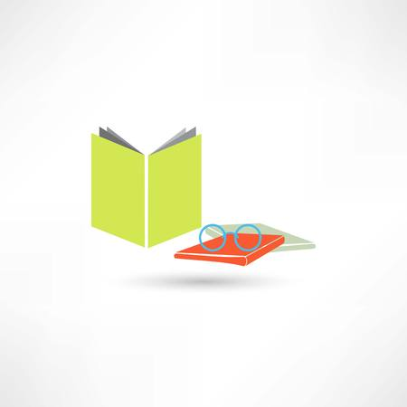 article icon: Book and glasses