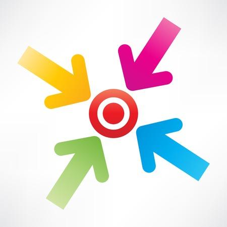 Target mit Pfeilen Standard-Bild - 25820008