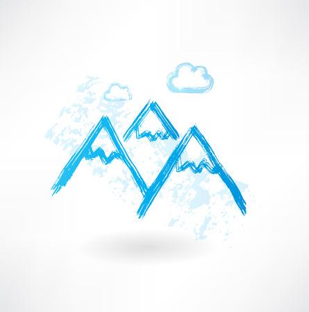rocky mountain: mountains grunge icon