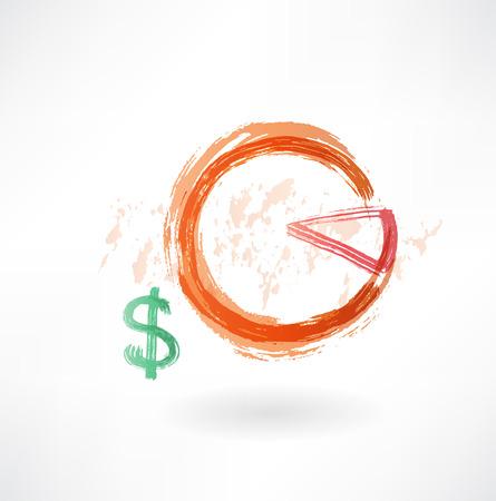 financial schedule grunge icon Illusztráció