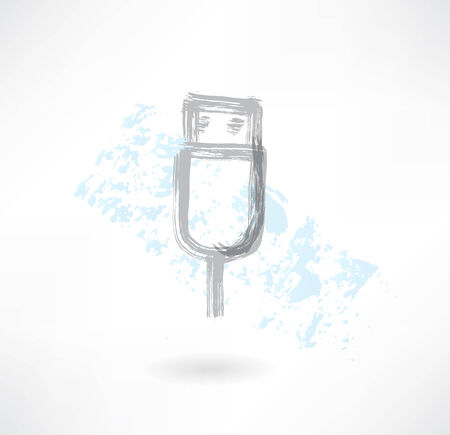 usb grunge icon Vector