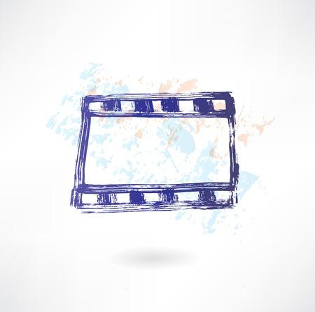 cinema frame grunge icon