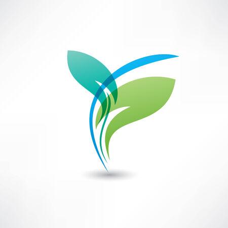 Eco leafs blue and green Illusztráció