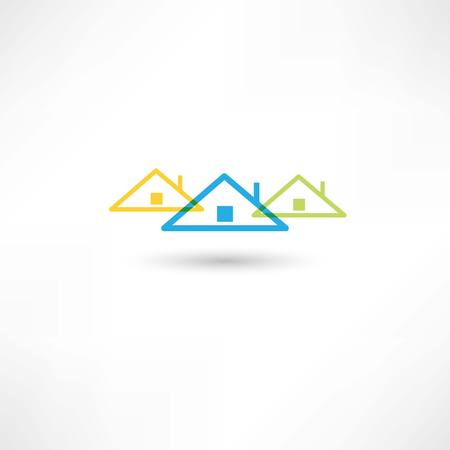 colored roofs Vector