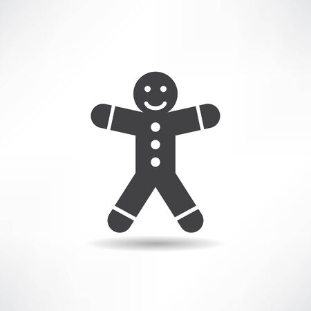 black gingerbread man Illustration