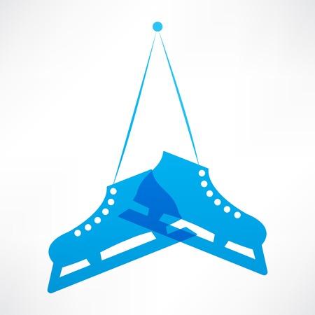 ice skating: Blue skates