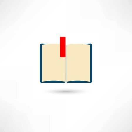 Open book with a bookmark Vector