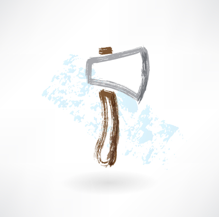 axe grunge icon Vector