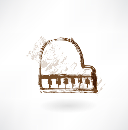 piano grunge icon Illustration