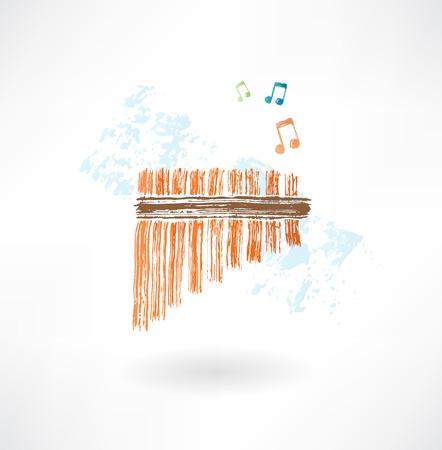 flauta: icono grunge flauta