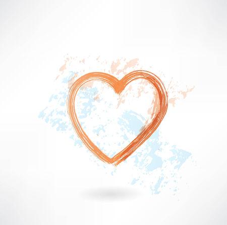Heart grunge icon 向量圖像