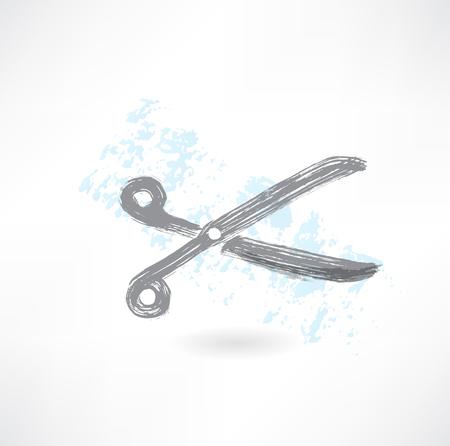 scissors grunge icon Vector