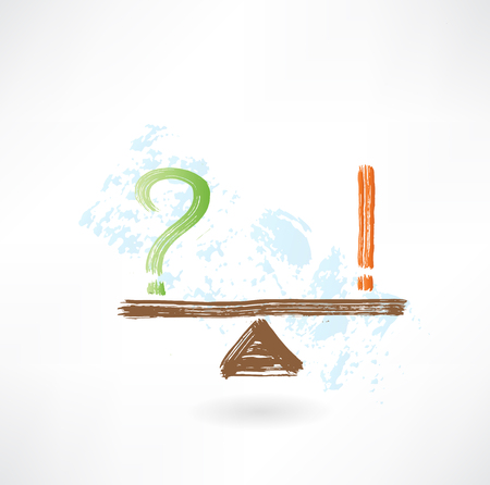 question exclamation balance grunge icon Stock Vector - 25821618