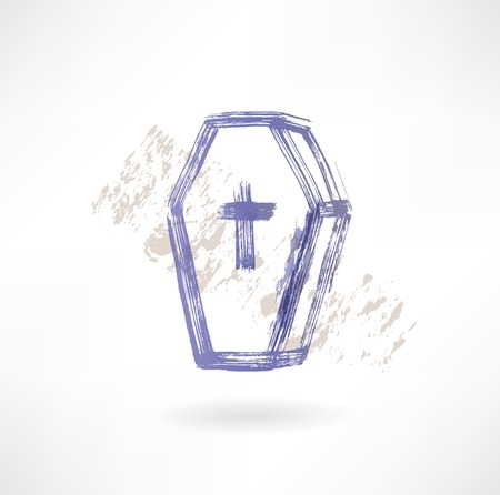coffin grunge icon Vector