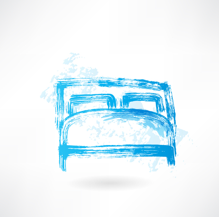vintage furniture: bed grunge icon