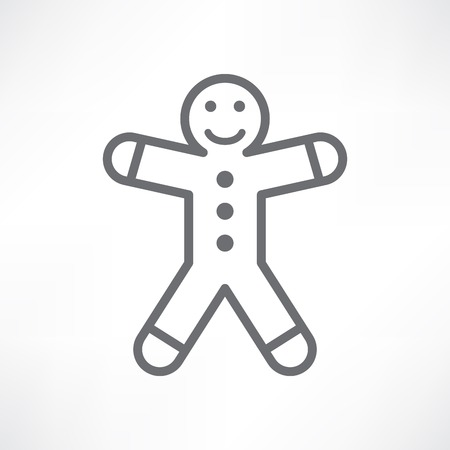 gingerbread man: White gingerbread man
