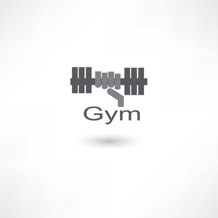 Fitness dumbbell Illustration
