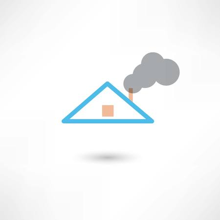 roofer: smoke from the chimney