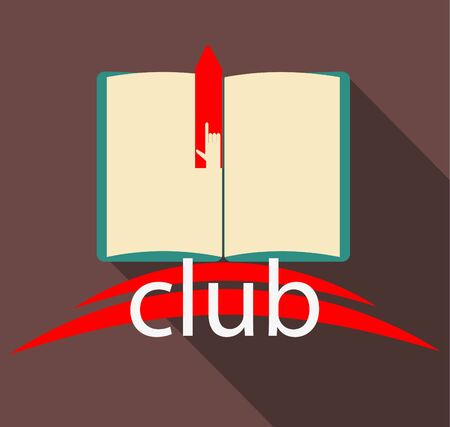 pad: Club book on brown background