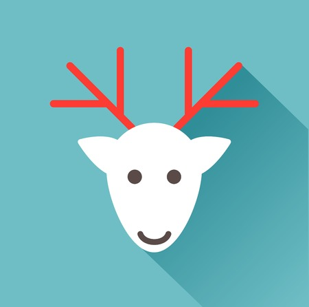 deer head on a blue background Vector
