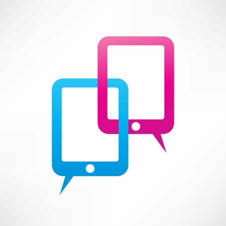 electronic organiser: Two pads bubble speech