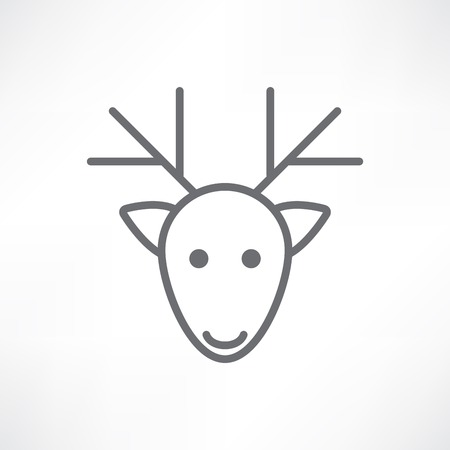 deer head on a white background Vector
