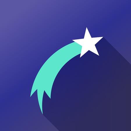 estrellas de navidad: Cometa de colores Vectores