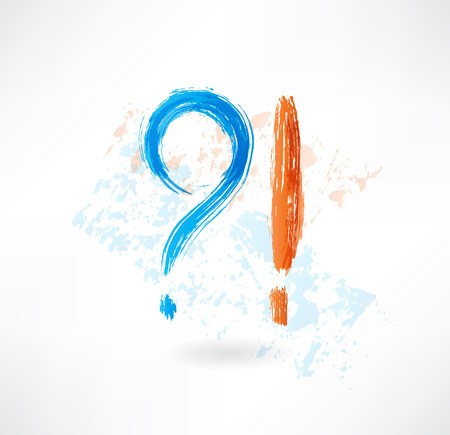 question answer grunge icon Vector