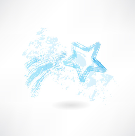 shooting star grunge icon Illusztráció