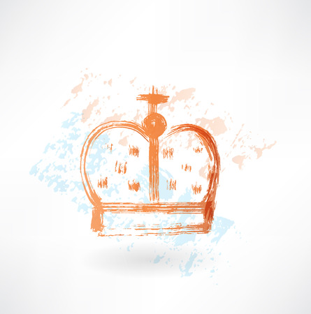 crown grunge icon Vector