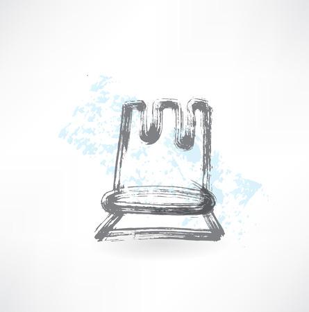 chess move: chess grunge icon Illustration